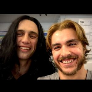 James and Dave Franco filming The Disaster Artist